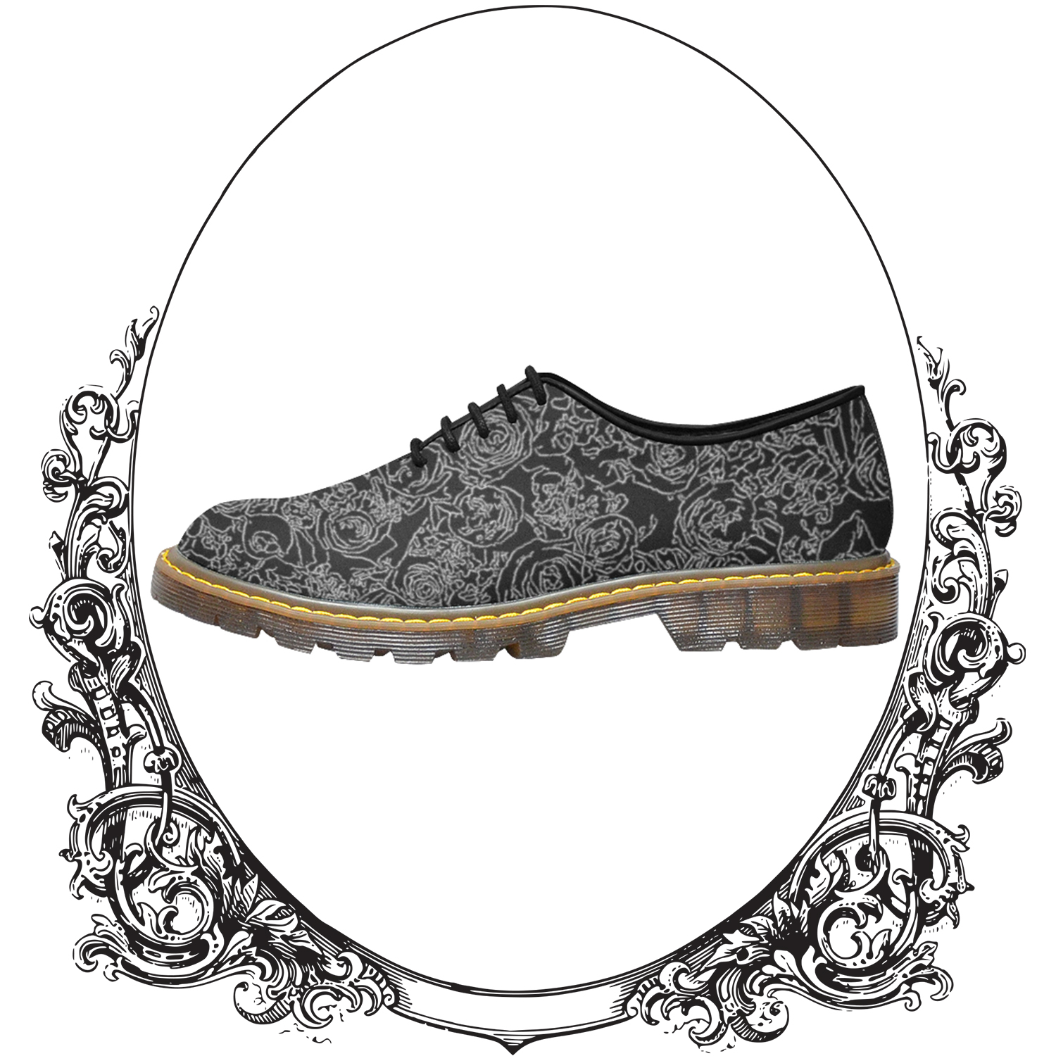 b8d6d5096224 Bed of Roses Dark Grunge Goth Softgrunge Oxford Shoes · Minimalist ...