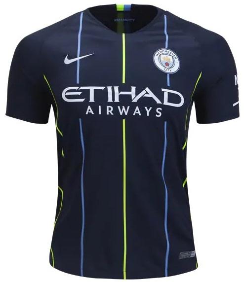 Custom Man City 2018 19 Jersey Men Soccer Home Football Shirt ... a288f912a1f5