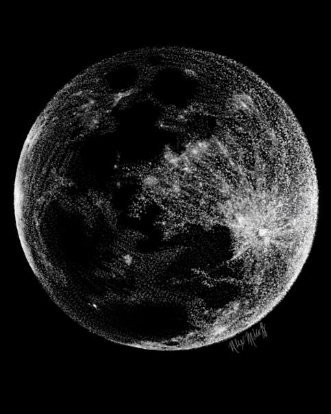 Stipple Moon Print on Storenvy