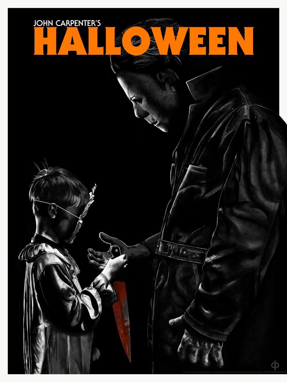 Halloween 1978 Movie Poster.Halloween 1978 Officially Licensed Poster Ap From Death Kat Design