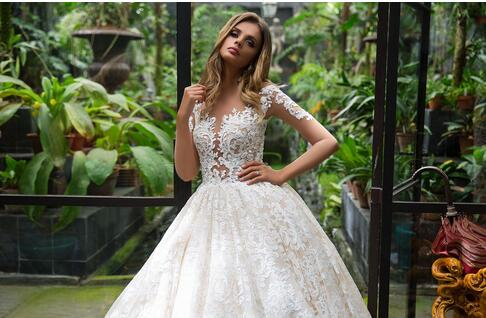 fbb6915bc62f2 High Quality Lace Wedding Dresses 2019 Western Country Bridal Wedding Gowns  Sexy Backless Appliqued Floor Length