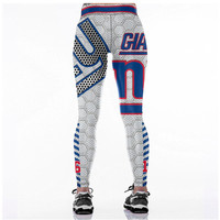 cb106acb61f86 ... New York Giants Workout Sports and Fitness Workout Yoga Pants Football  Leggings for Women - Thumbnail