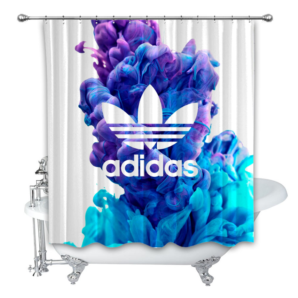 New Best Adidas Pastel Smoke 66 Custom Shower Curtain 100 Polyester