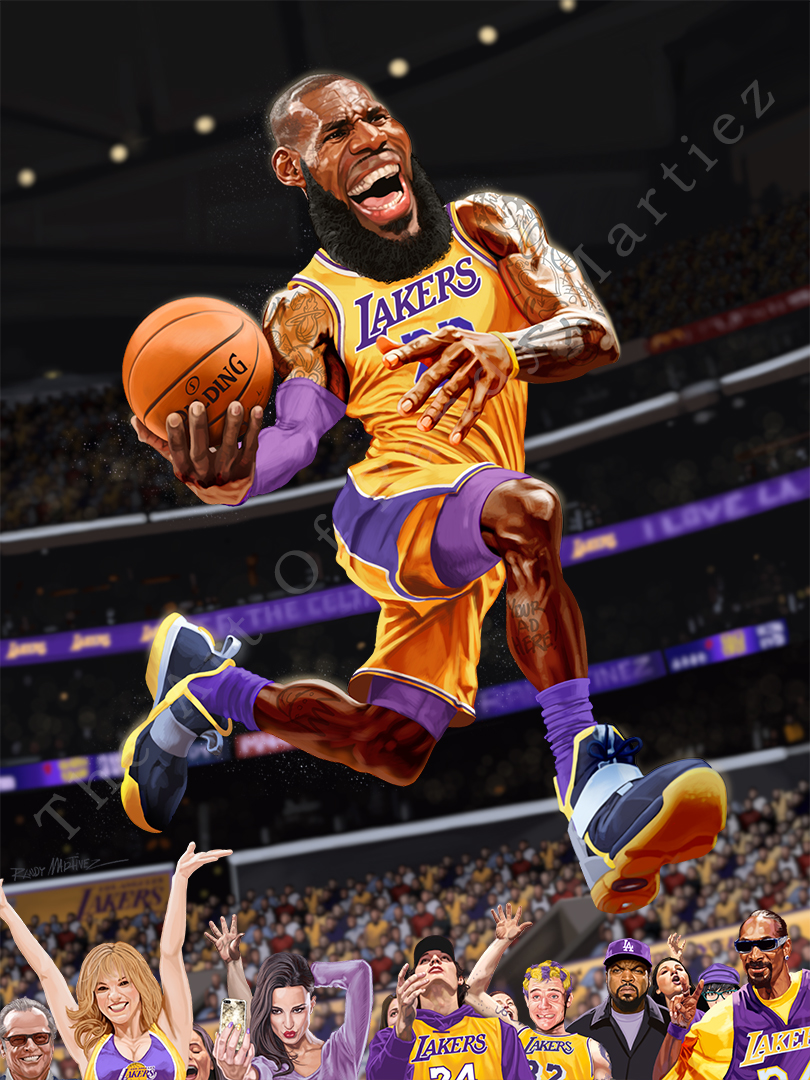 Print Lebron James Los Angeles Lakers Randy Martinez Art Store Online Store Powered By Storenvy