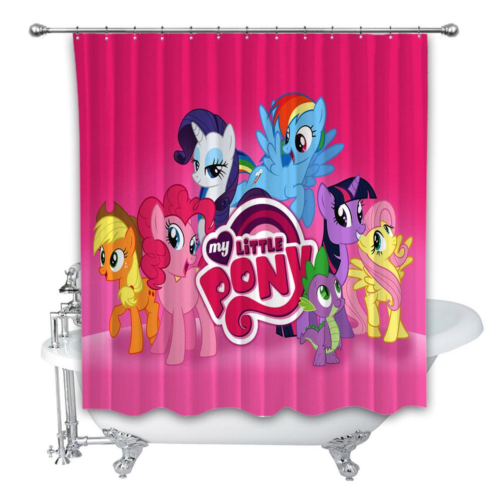 New My Little Pony Cartoon Movie Custom Shower Curtain 100