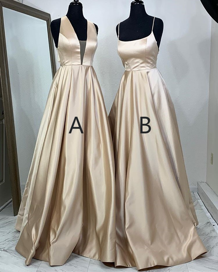 Simple A-line Formal Dresses