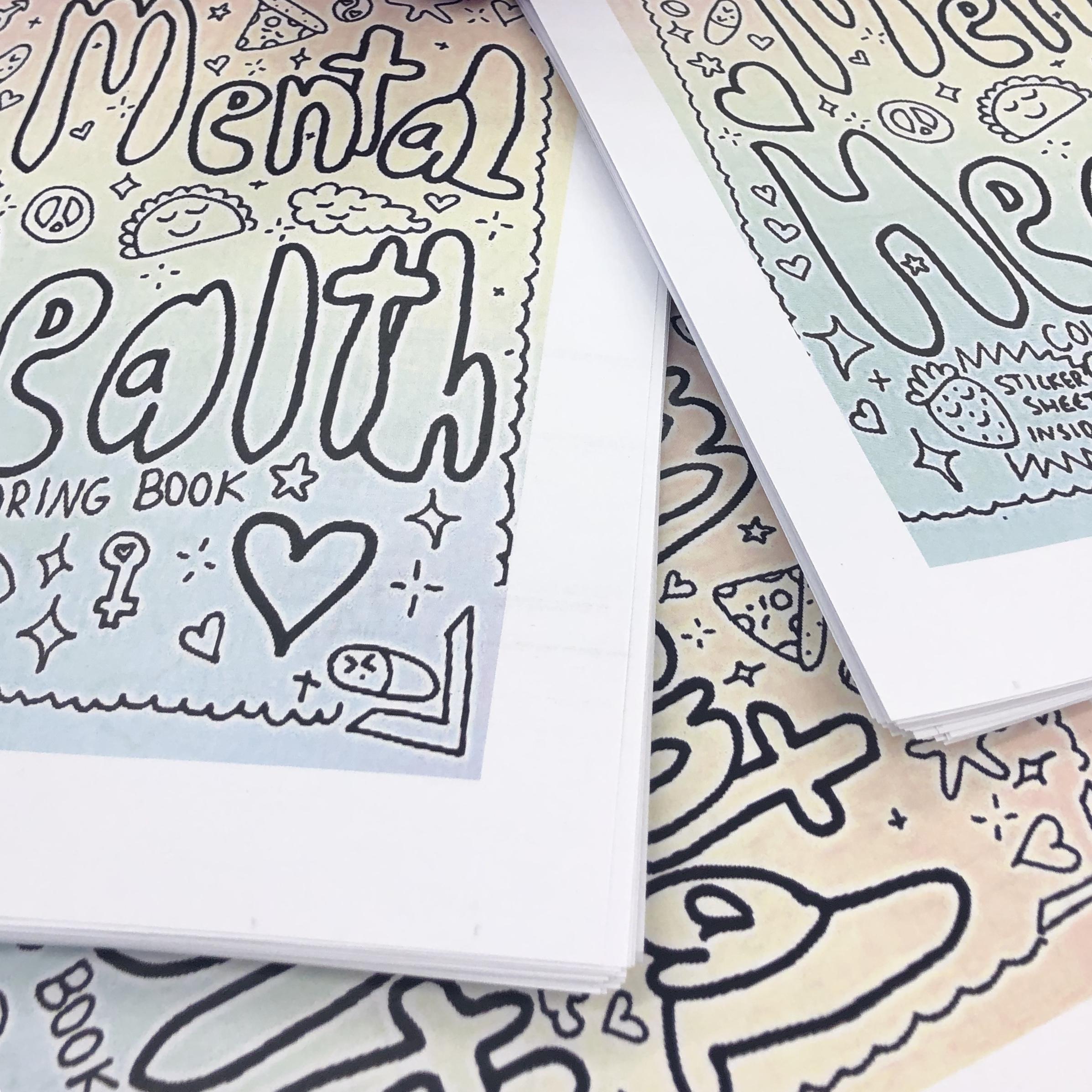 Mental health coloring book PDF VERSION on Storenvy