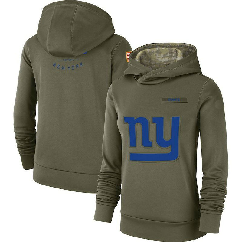 Women New York Giants Olive Salute to Service Pullover Performance ... 0f73bb9b2