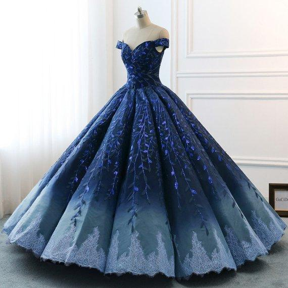 Gorgeous Long Ball Gown Off The