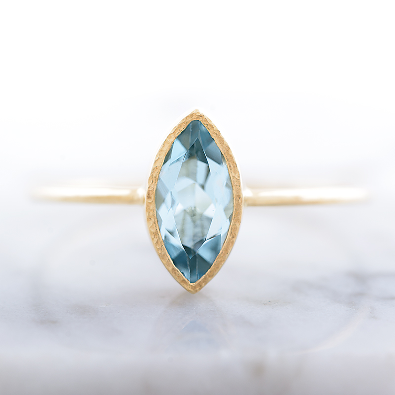 f78dfa4d78ded Aquamarine Engagement Ring, Marquise Aquamarine Ring in 14k Yellow Gold,  Handmade Engagement Ring, Hidden Heart ring from Arpelc Jewelry