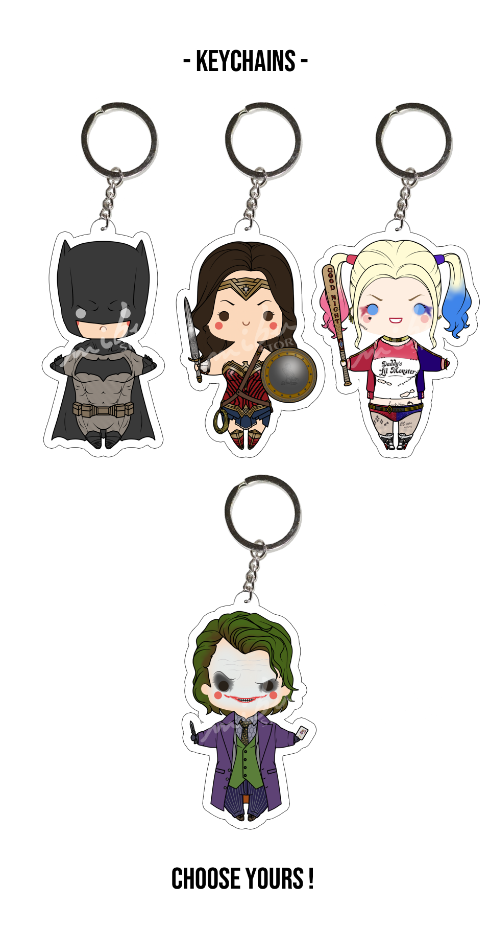 DCEU - Acrylic Keychain from MibuStore