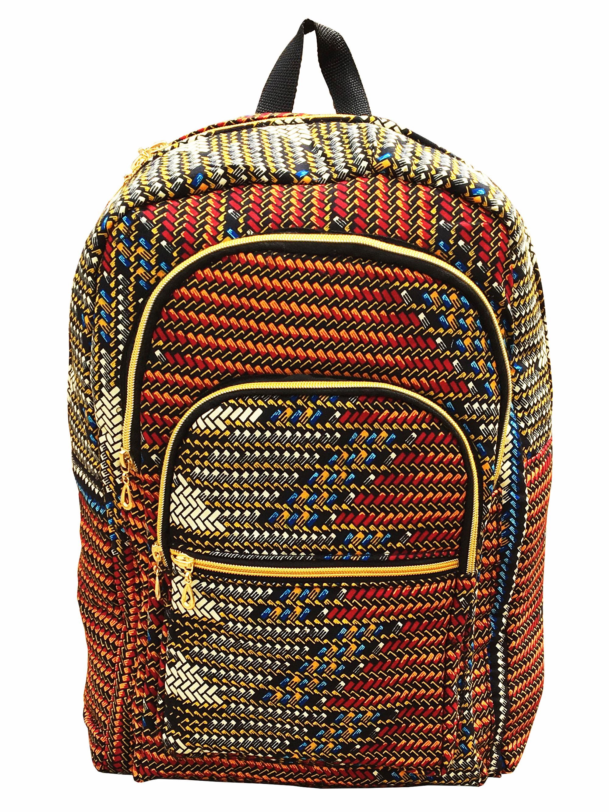 Ankara Wax African Print Book Bag Rucksack Handmade ...
