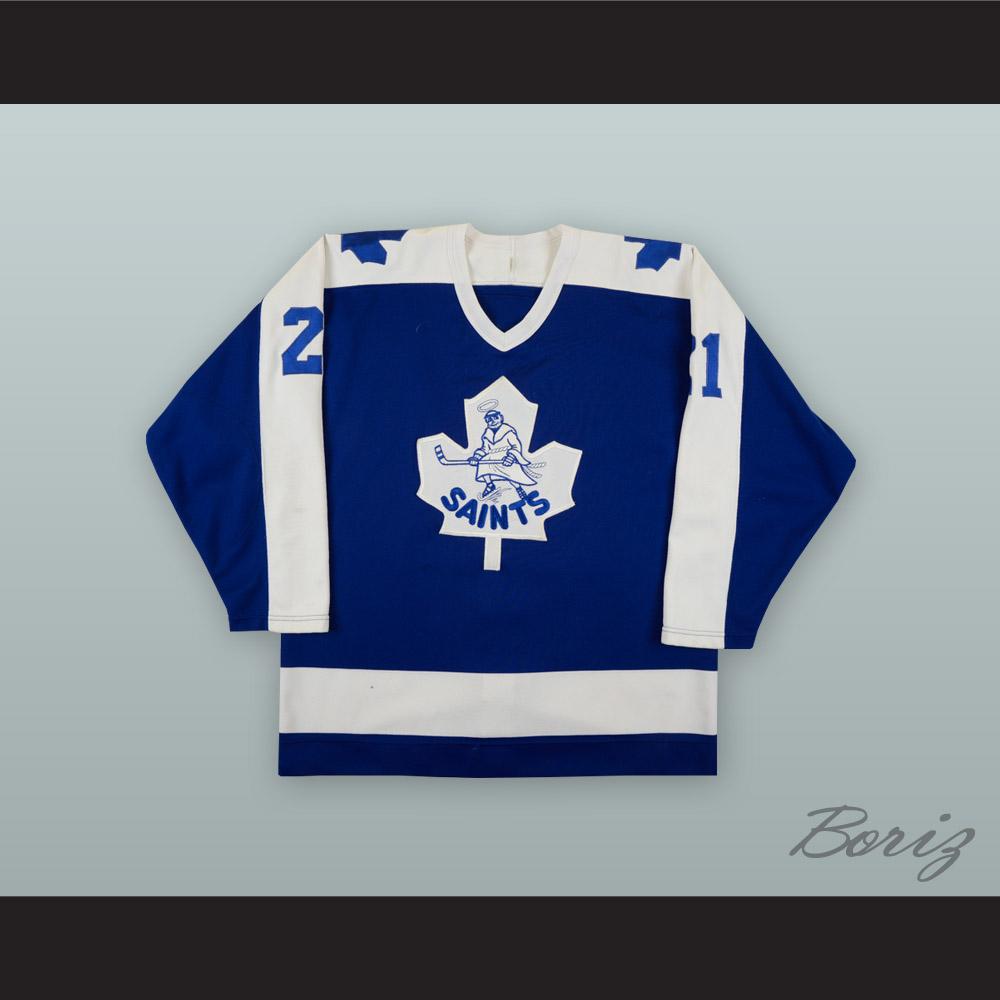 Dave Allison 21 Newmarket Saints Blue Hockey Jersey · acbestseller ... bb80176e1d0