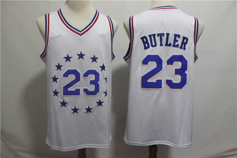678fc043c5e Men s Philadelphia 76ers 23 Jimmy Butler White 2018 19 Jersey Earned Edition