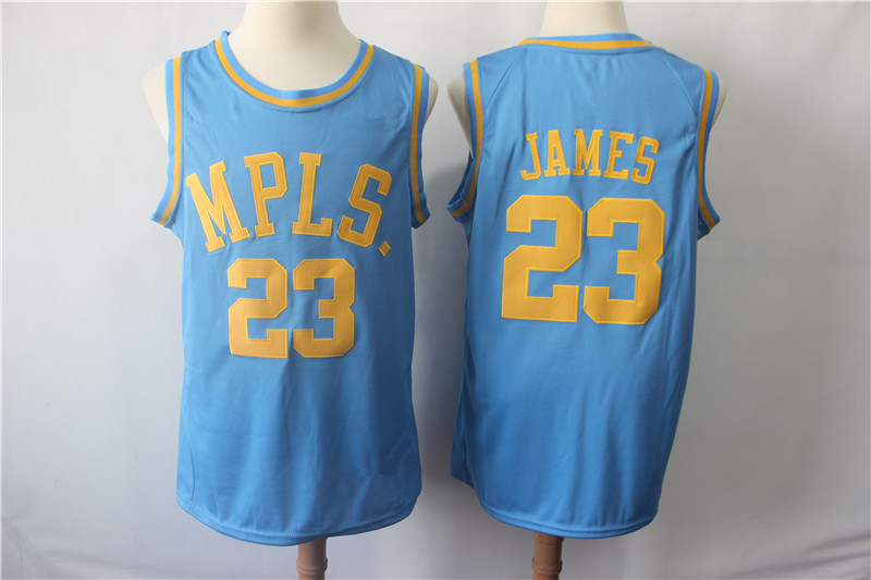 2d603d4d7 Men s Los Angeles Lakers 23 LeBron James MPLS Basketball Jersey ...