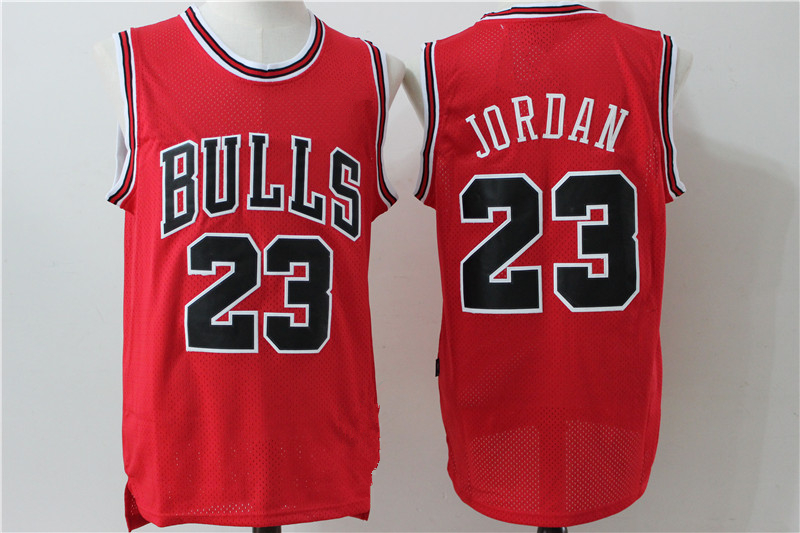 Throwback Men s Chicago Bulls 23 Michael Jordan Red Retro Basketball Jersey 0c028af5f