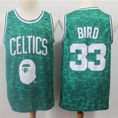 Bape x mitchell   ness special edition boston celtics 33 larry bird jersey  - Thumbnail 4 1043c7aa3