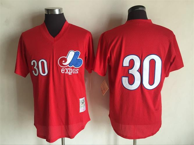 Mens Mitchell Ness Montreal Expos  30 Tim Raines Red Coopertown Throwback Baseball  Jersey · Majesticathletic · Online Store Powered by Storenvy 1685802b7