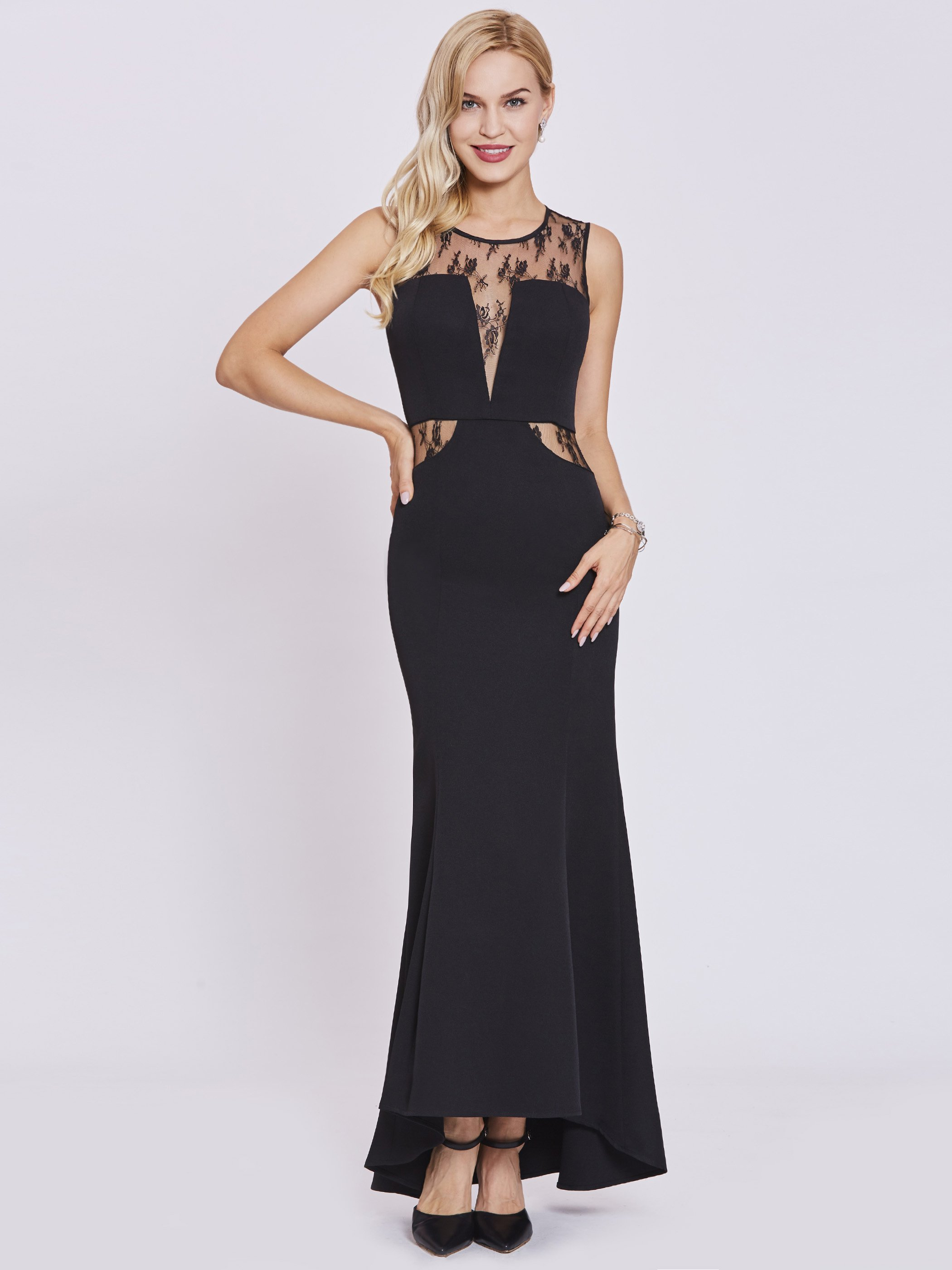 12172a49135d Modest Long Black Formal Dresses - raveitsafe