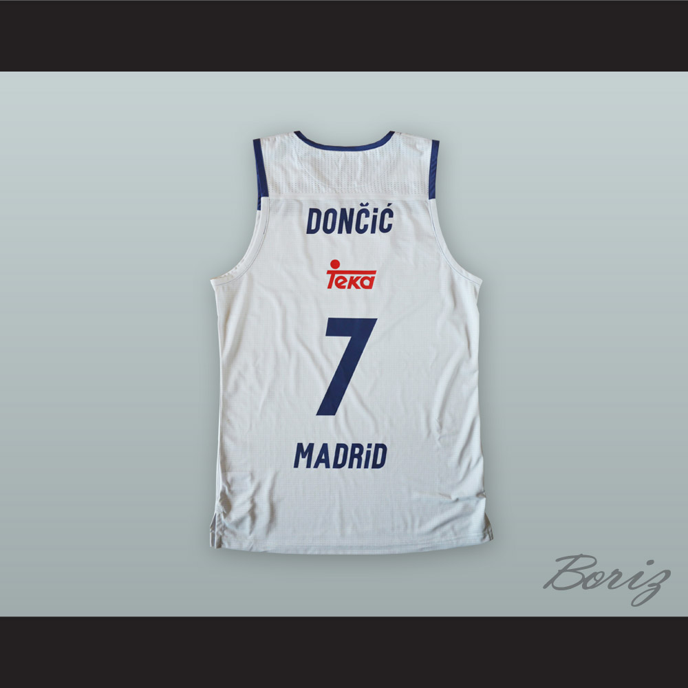d92eff498225 Luka Doncic 7 Real Madrid White Basketball Jersey 2 · acbestseller ...