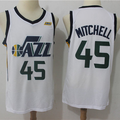 97ee56278c8 Men utah jazz donovan mitchell fanatics branded white fast break replica  jersey - icon edition