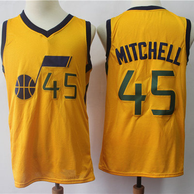 48aed8375c4 Utah jazz donovan mitchell fanatics branded gold fast break jersey - statement  edition