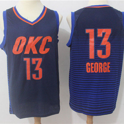 304a48a4188 Men s oklahoma city thunder paul george navy replica swingman jersey - statement  edition
