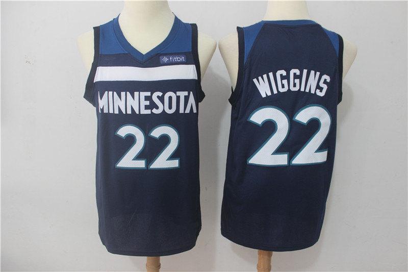 dec60249bcb Men s Minnesota Timberwolves Andrew Wiggins Towns Navy Swingman Jersey - Icon  Edition ...