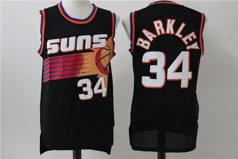 cheap for discount ddeff 426e7 Mitchell & Ness Charles Barkley Phoenix Suns 1996-97 Hardwood Classics  Throwback Authentic Home Jersey - Black from haosjers