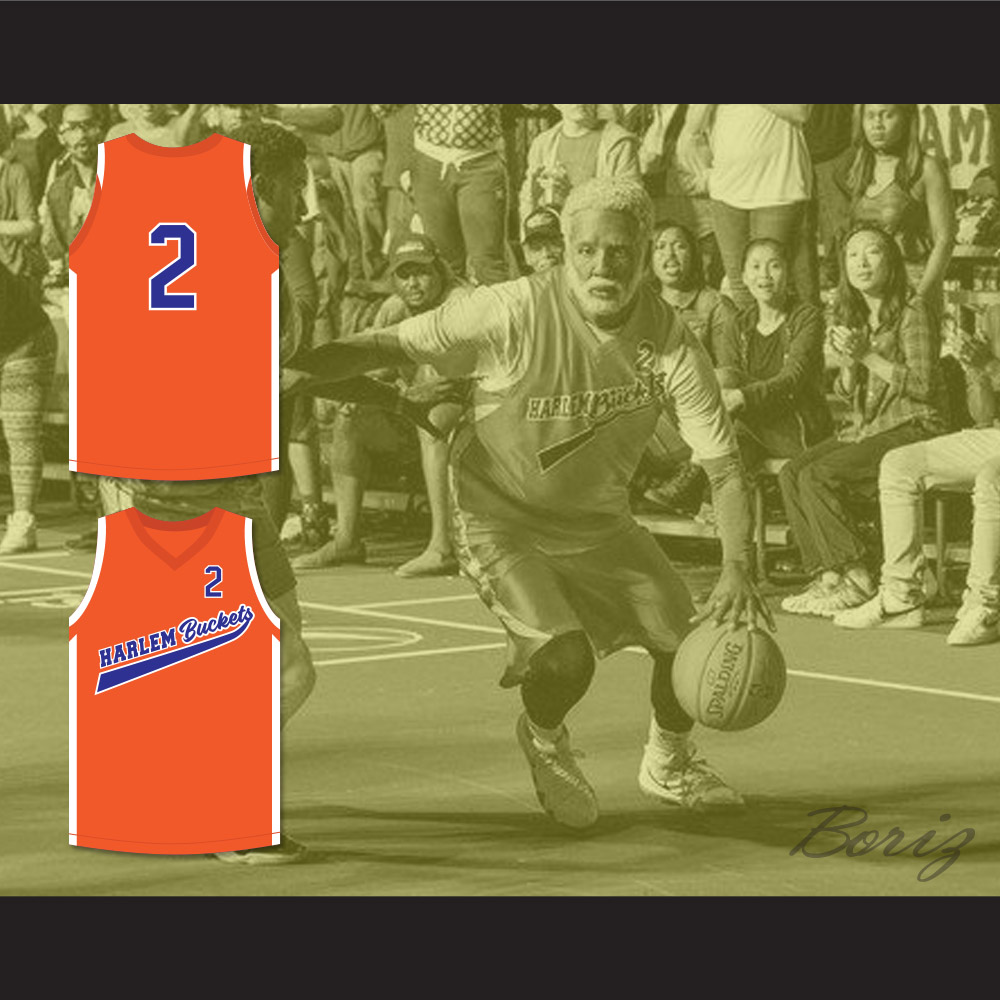 new concept d3d0d 6305c Kyrie Irving Uncle Drew 2 Harlem Buckets Basketball Jersey Uncle Drew from  acbestseller