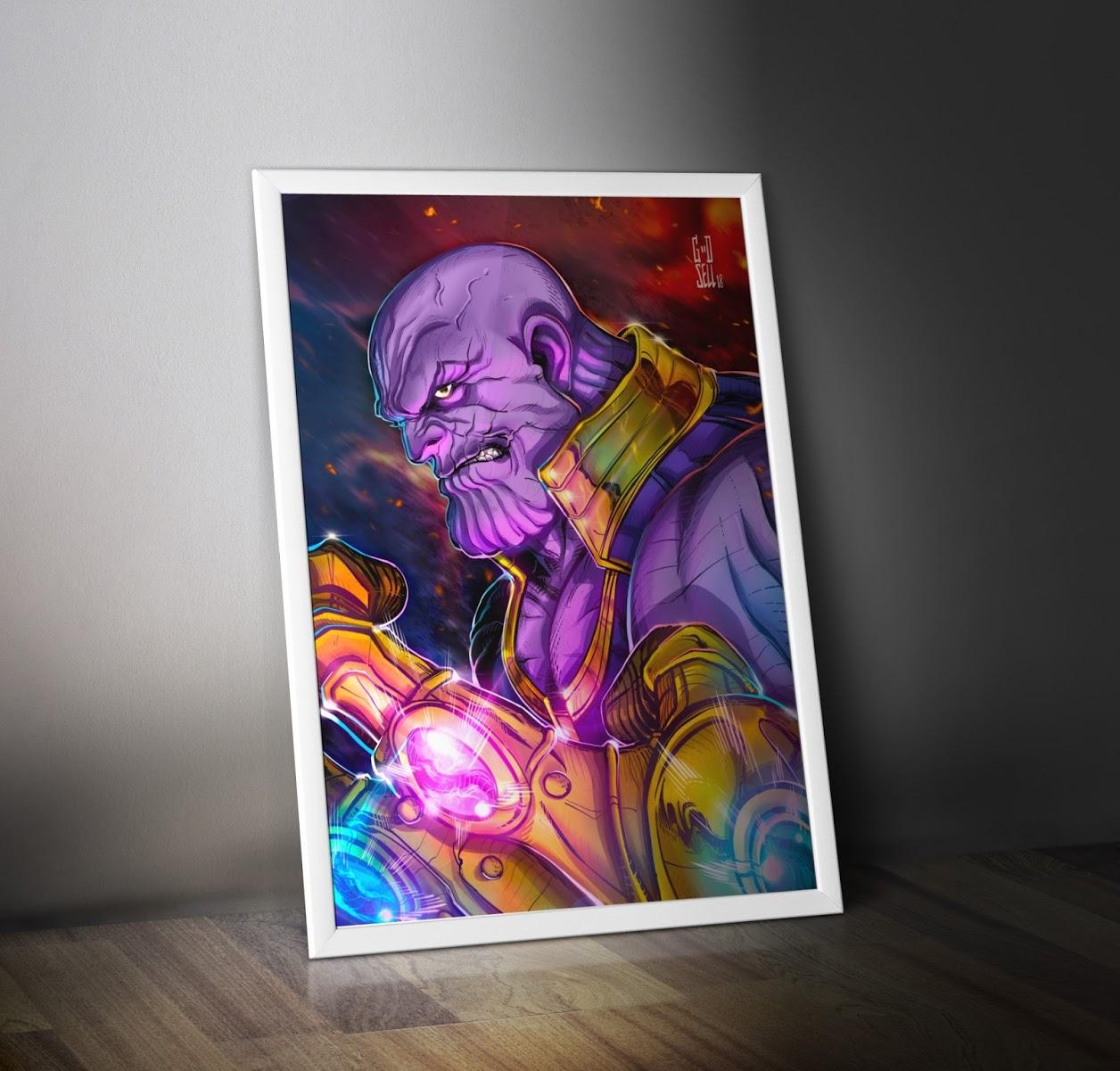 THANOS POSTER Print Marvel Wall Art Decor Avengers