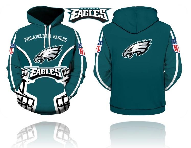 e2a8ca33 Philadelphia Eagles NFL Football Hoodie Team Sweatshirts Fan from  SportsMegas