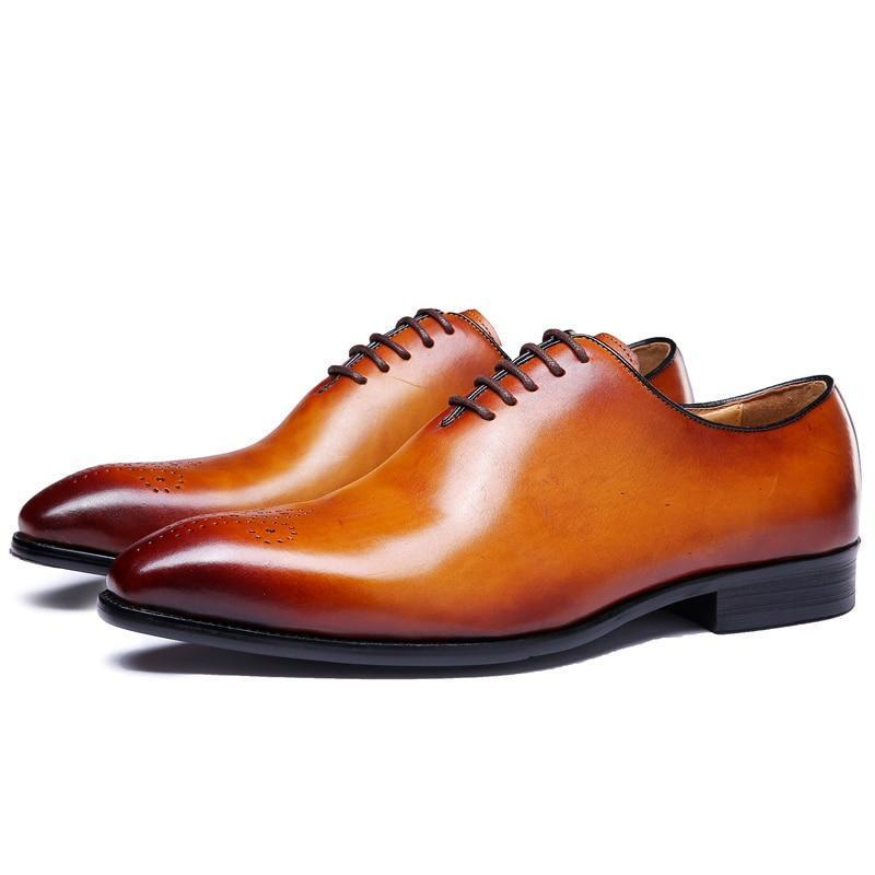 Handmade Men Tan color brogue Lace up formal Shoes, Men dress shoes from  Rangoli Collection