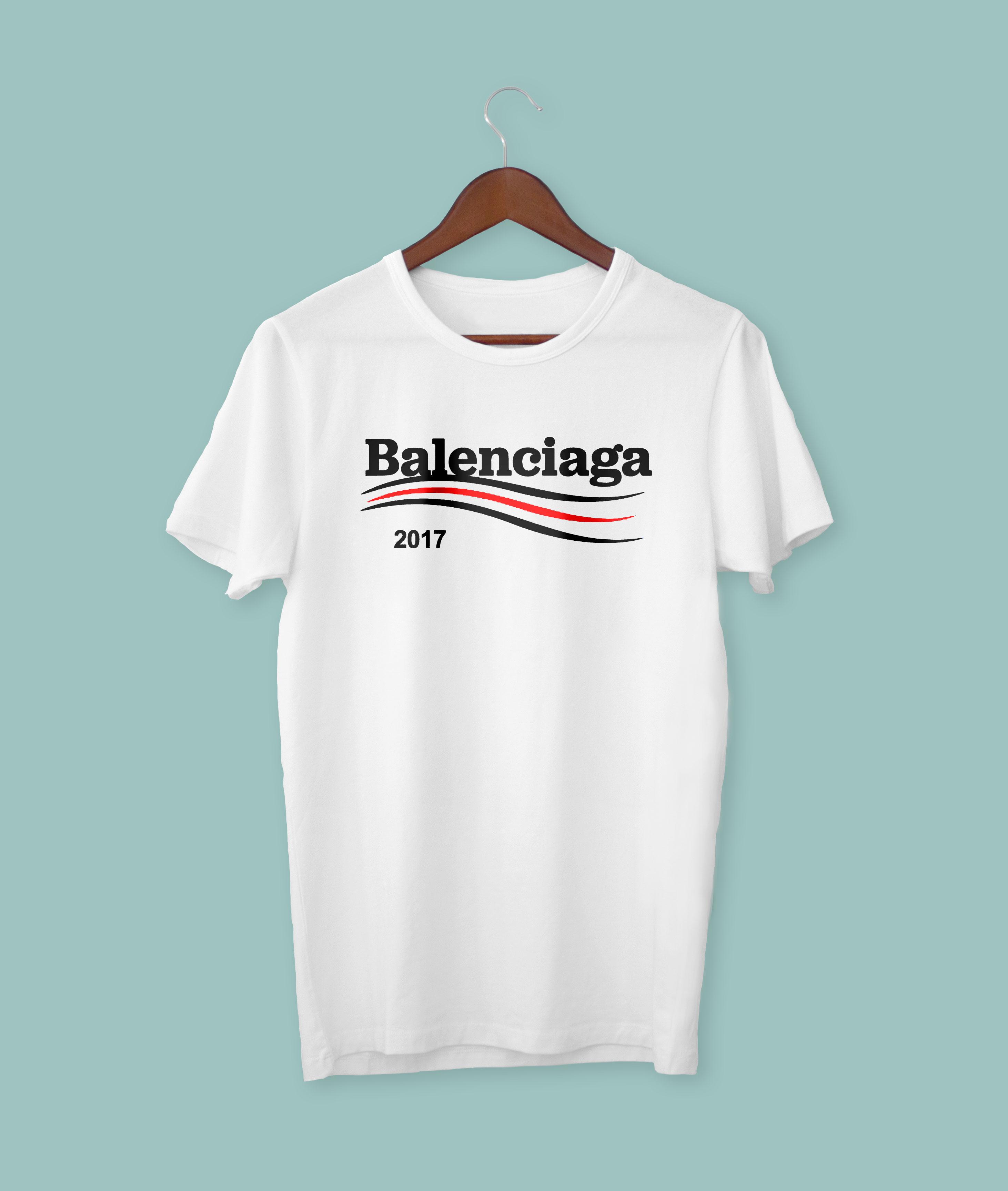 7e43fac76ff4 Balenciaga #3 Shirt Regular Tshirt Tee White Black Gildan on Storenvy