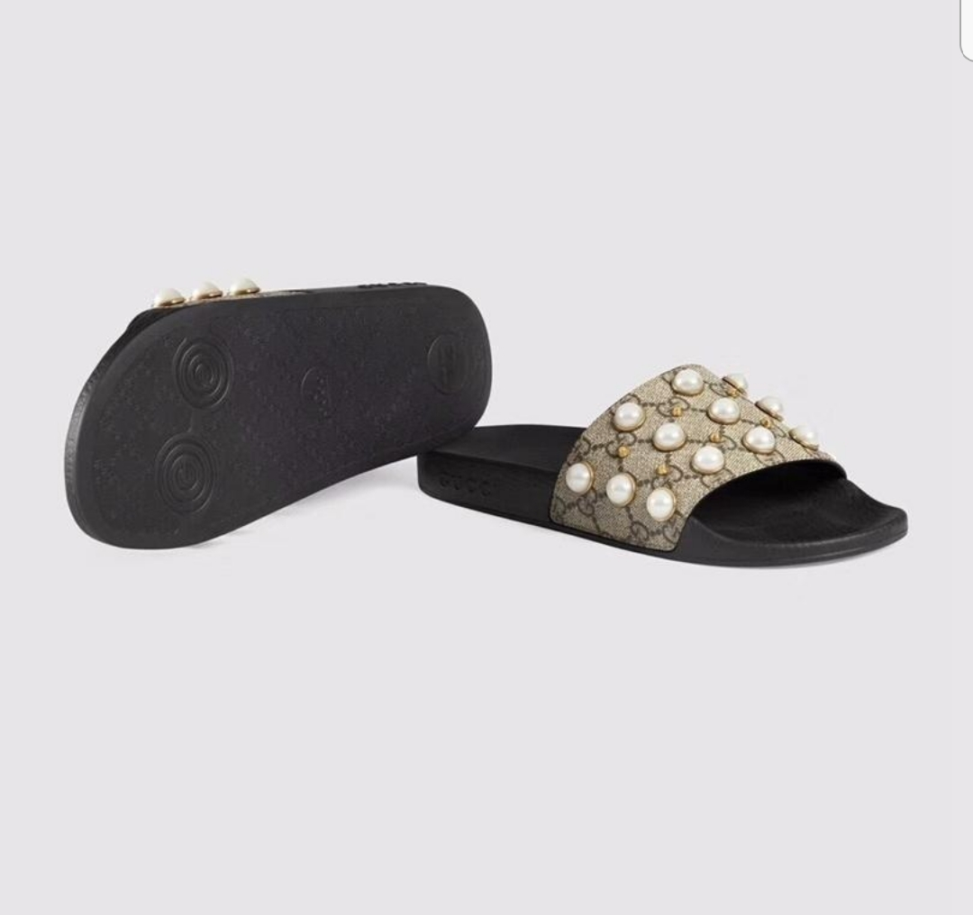 5116dcad5bf0 Designer style Pearl Slides · Little Luxe · Online Store Powered by ...