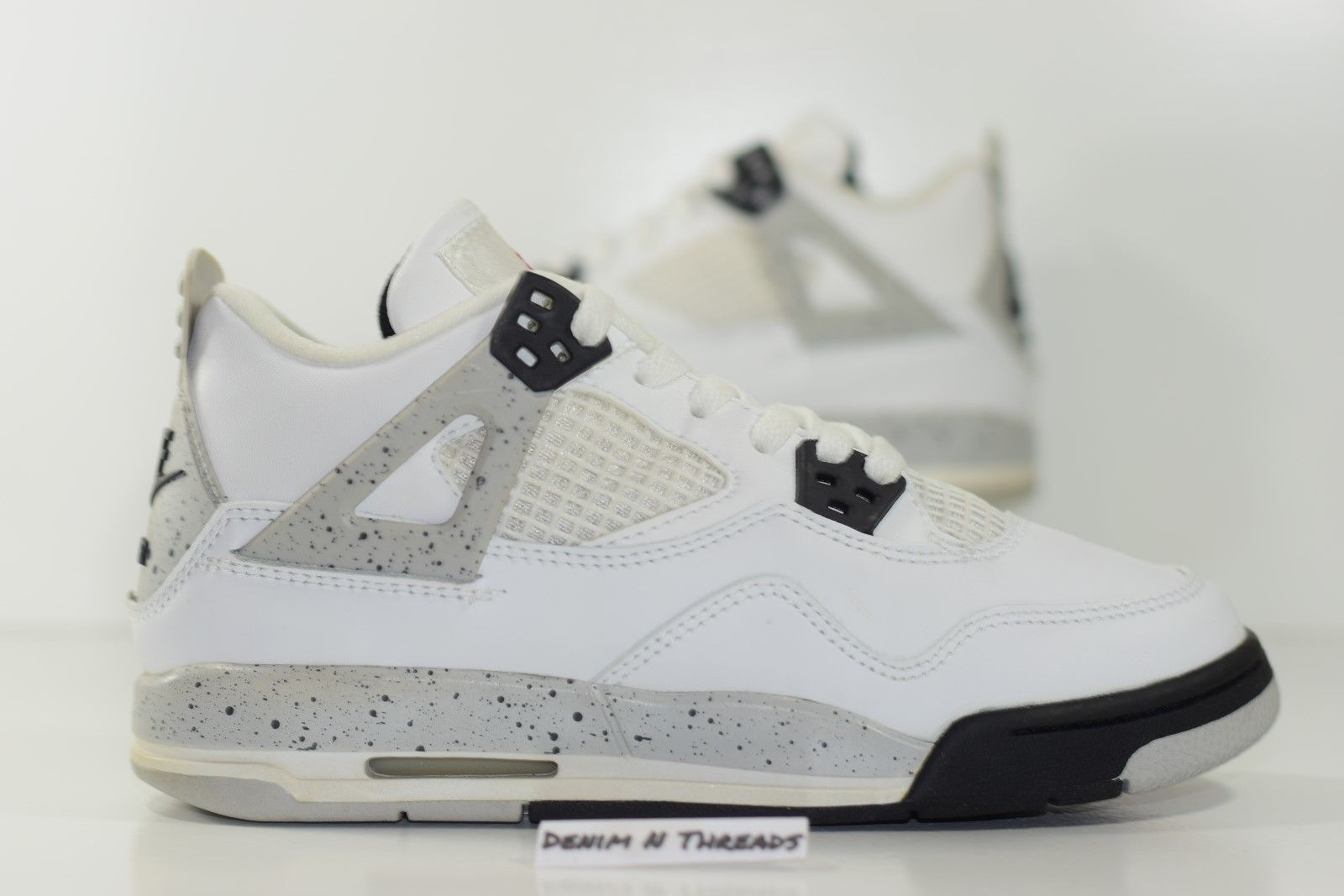 timeless design df516 8e3b1 Size 5 | 1999 NIke Air Jordan IV Retro 4 White Cement OG from BucksVintage