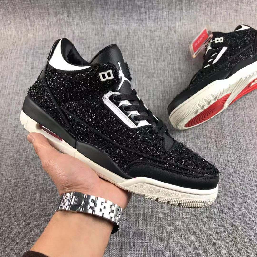 5a662257415 Men Basketball Shoes Black New Air Retro 3 Shoes · YogaCloth ...
