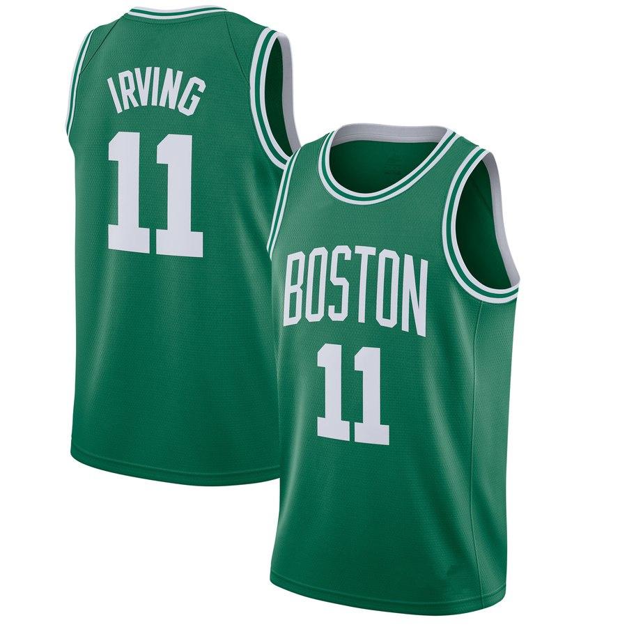 Men s Boston Celtics  11 Kyrie Irving Green Basketball Jersey on ... 052da2845