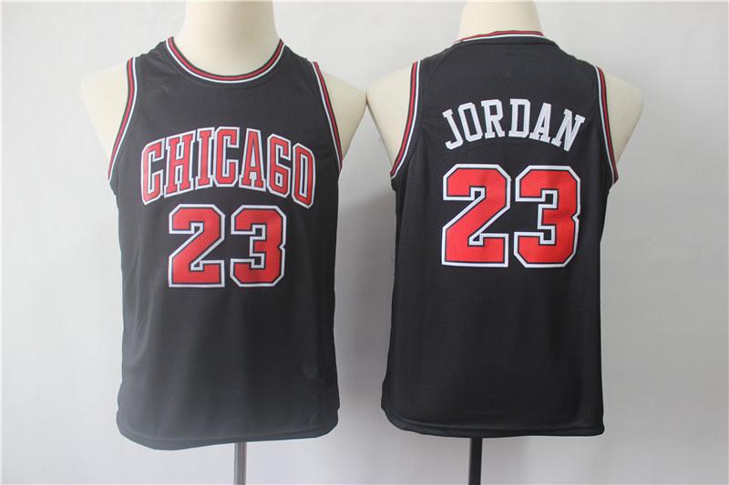 best service cf476 1690f Youth Chicago Bulls 23 Michael Jordan Black Swingman Jersey from vsport