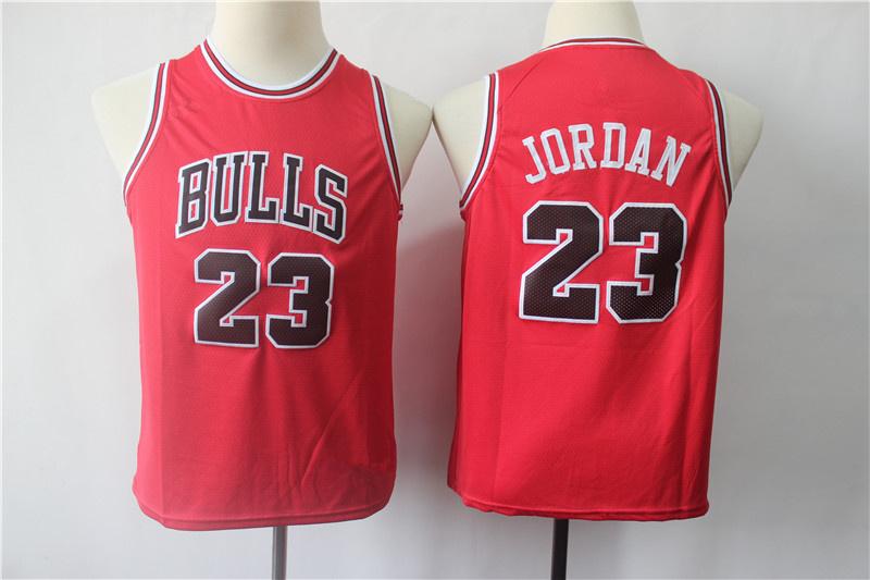uk availability 211bd a7a10 Youth Chicago Bulls 23 Michael Jordan Red Swingman Jersey from vsport