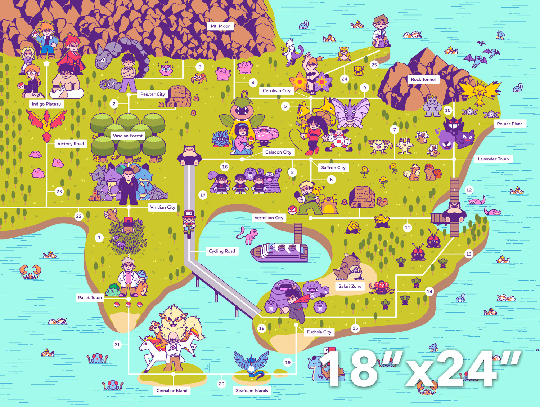 Idea by DIMENSION CREATIVE on ILLUSTRATION Pokemon, Map, Art