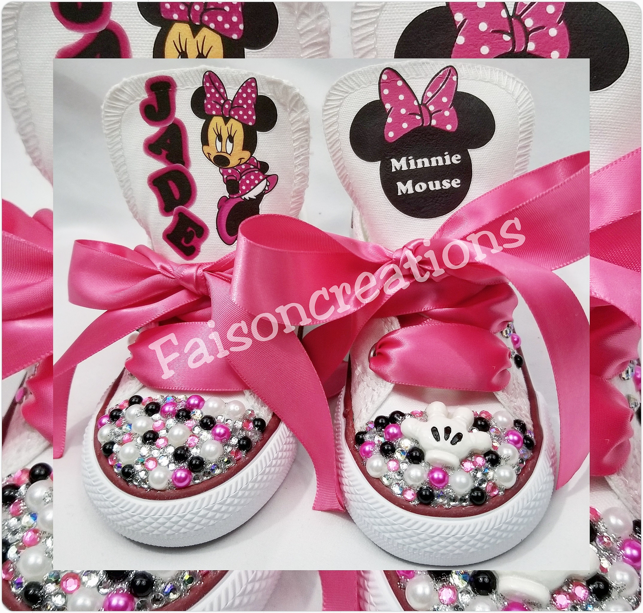23fbbf40f5ac Toddler Custom Minnie Mouse Converse · FaisonCreations · Online ...