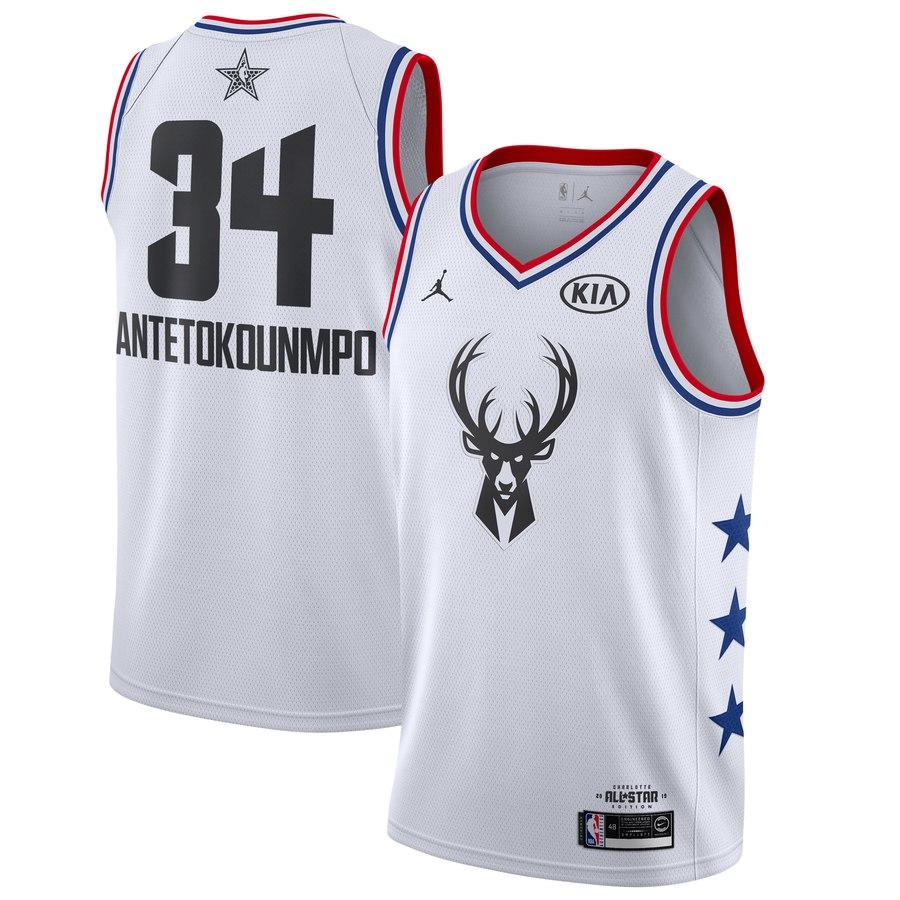 d00c35c2d 2019 All-Star #34 Giannis Antetokounmpo Milwaukee Bucks Basketball Jersey
