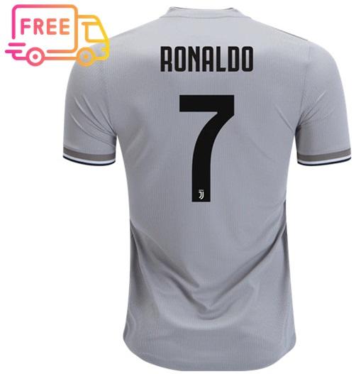 1a099037be7 Ronaldo FC Juventus 18 19 Away CR7 Jersey Men Shirt Soccer Sports ...