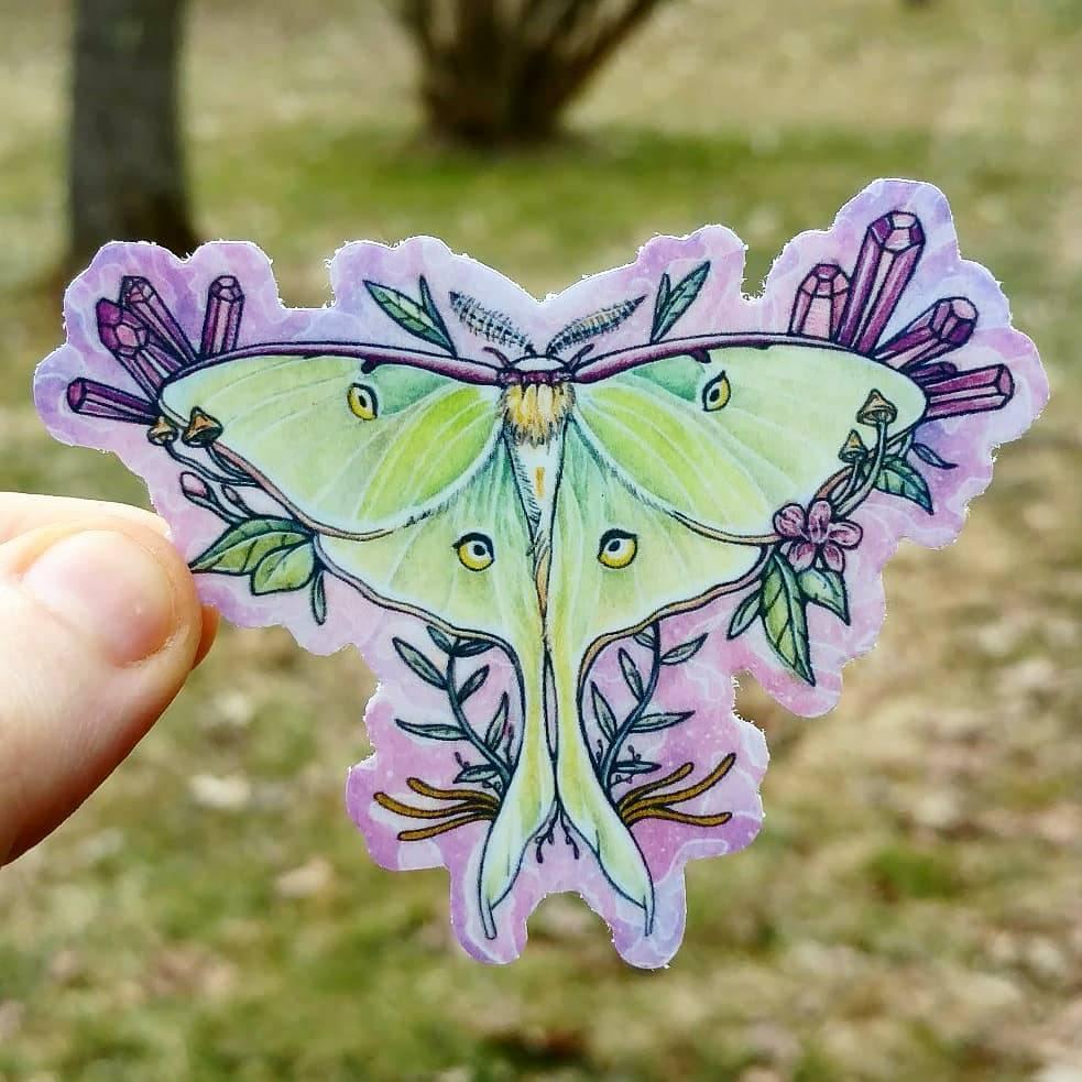 Luna Moth Vinyl Sticker · Kaitlyn Page · Online Store ...