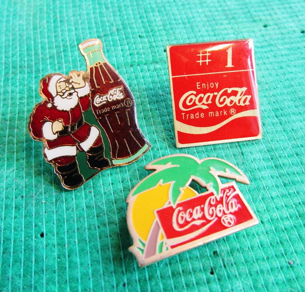 Coca Cola collectible enamel pins