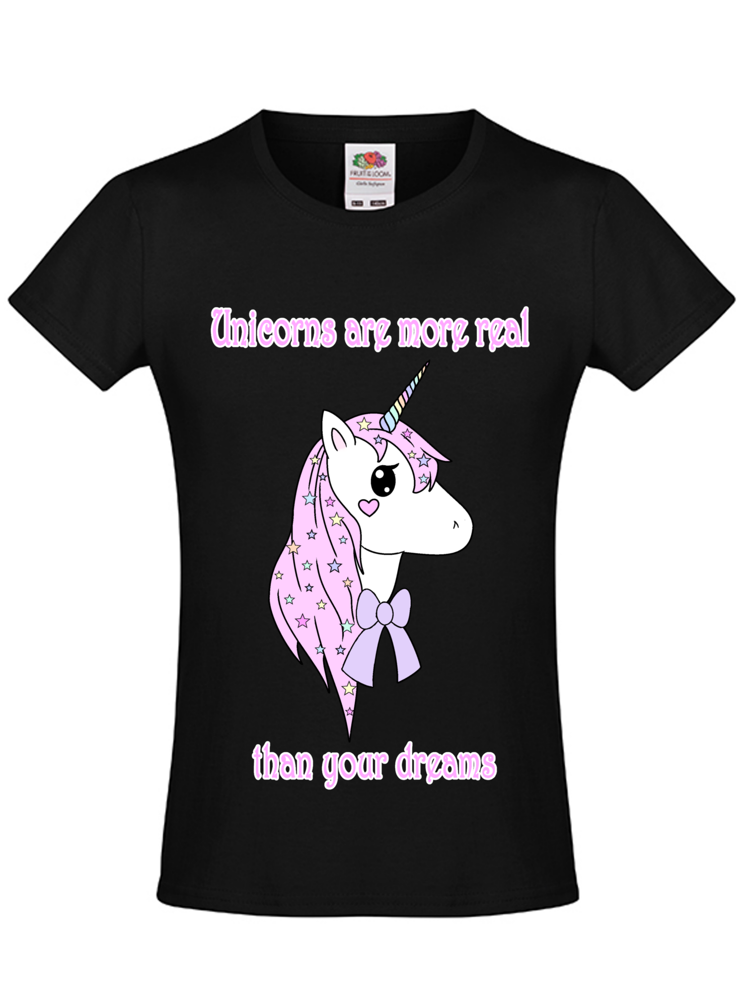 02341efd858f T-Shirt Unicorns are more real than you´re dreams print on Storenvy