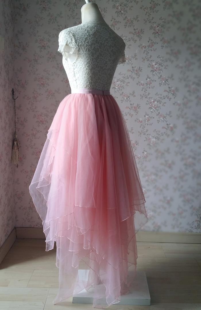 Blush Bridal Tutu Ballerina Skirts Tiered Tulle Skirt Lady Party Skirt Plus  Size