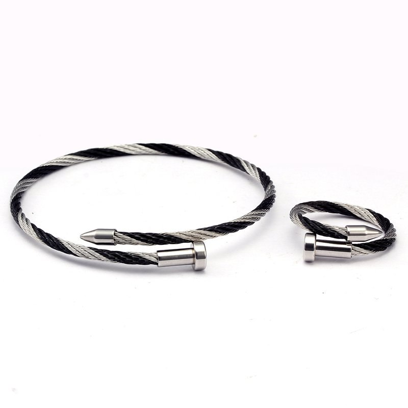 22eac761271 Pulsera Stainless Bracelets Nail High Link Classic Bangles Trendy ...