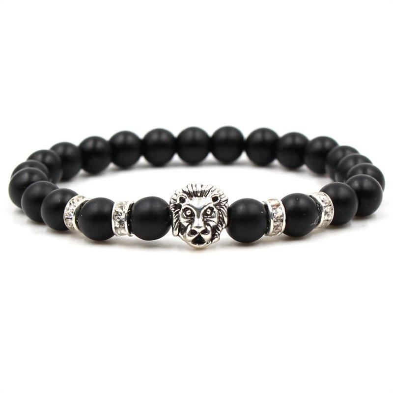 acheter populaire d4ffb 27293 Women Bracelets Pulseira Animal Masculina 2018 Jewelry Buda Men Wristband  For Homme Bracelet Femme Stone Head Bileklik Pulseiras